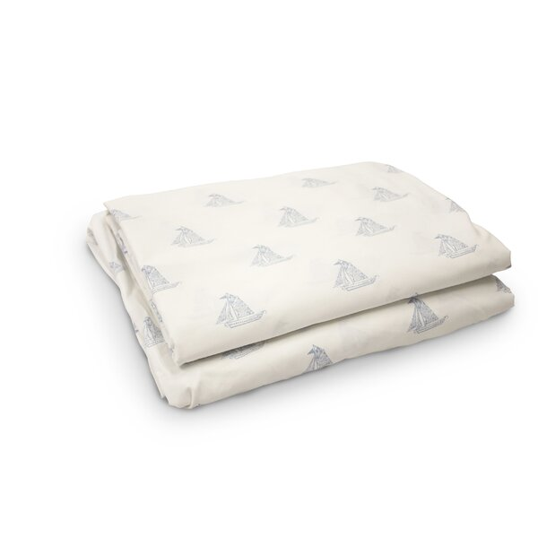 Madilynn Sailboats 200 Thread Count 4 Piece 100% Percale Cotton Sheet Set by Breakwater Bay